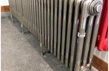 MHS Multisec Column Radiator In Loft Bare Metal